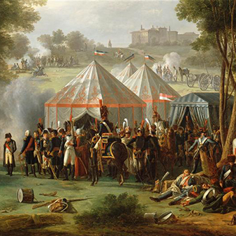 detail, Antoine Pierre Mongin, Napoleon's Encampment at Abersberg Castle, 1809