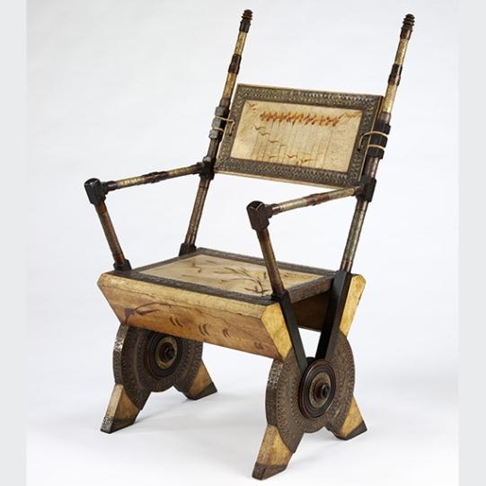 armchair, Carlo Bugatti, 1902