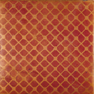 Terracotta Tile: Fired Earth / Atlas / Trellis Dot / Cinnamon