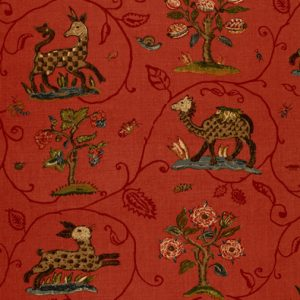 Fabric: Schumacher / LaMenagerie / Flame Red