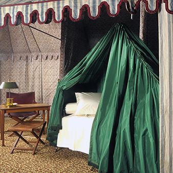 Napoleon's tent restored by the workshops of Mobilier National