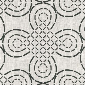 Fabric: Schumacher / Trellis Knot / Ivory and Onyx