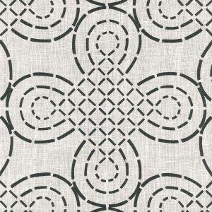 Fabric: Schumacher / Trellis Knot / Ivory and Onyx
