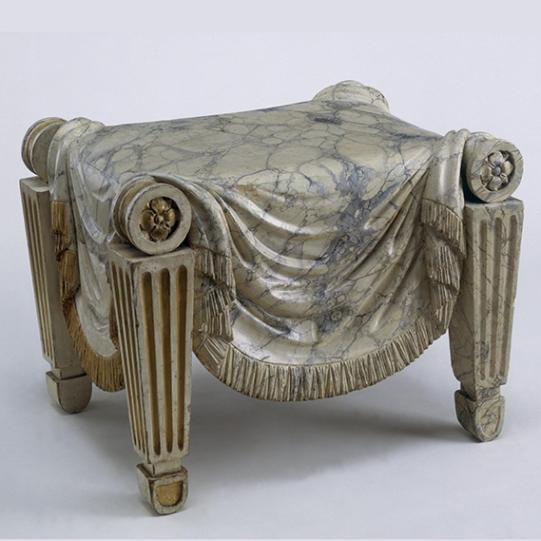 stool, C.H. Tatham, ca. 1800